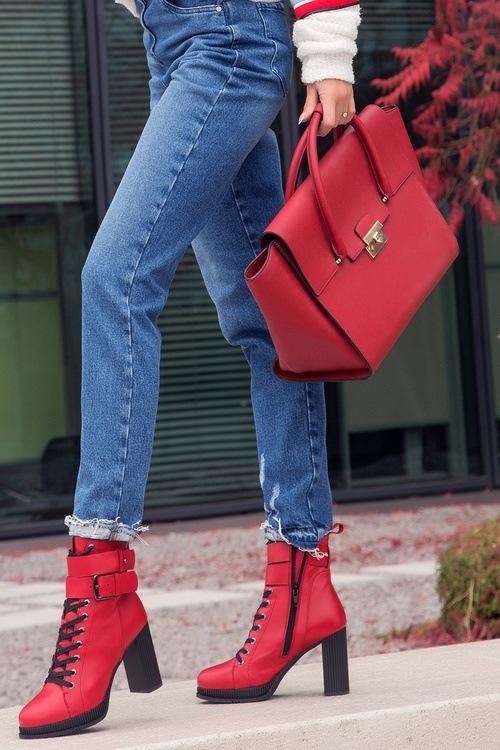 Noely bag - червен